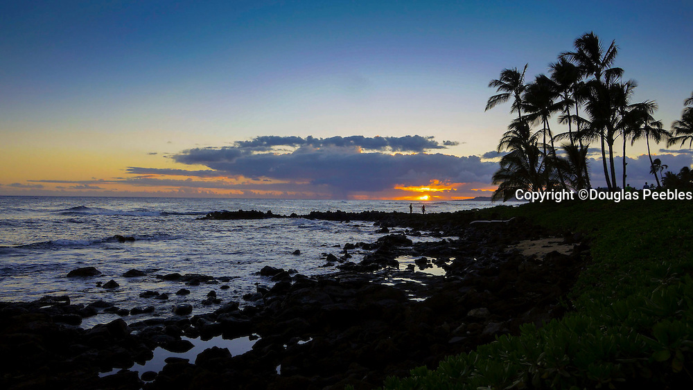 Timelapse, Sunset, Poipu, Kauai, Hawaii