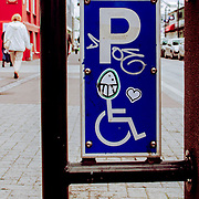 Demented handicapped parking sign, Reykjavik, Iceland (August 2006)