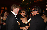 Mark Getty, Sabrina Guinness and Francesco Boglione.  Belle Epoche gala fundraising dinner. National Gallery. 16 March 2006. ONE TIME USE ONLY - DO NOT ARCHIVE  © Copyright Photograph by Dafydd Jones 66 Stockwell Park Rd. London SW9 0DA Tel 020 7733 0108 www.dafjones.com