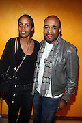 l to r: Idyll Mohallim and Mike Muse at The Ryan Leslie listening party for his new album ' Transition ' presented by The NextSelection Lifestyle Group and UniversalMotown and held at The Times Center on November 4, 2009 in New York City. Terrence Jennings/Retna, Ltd