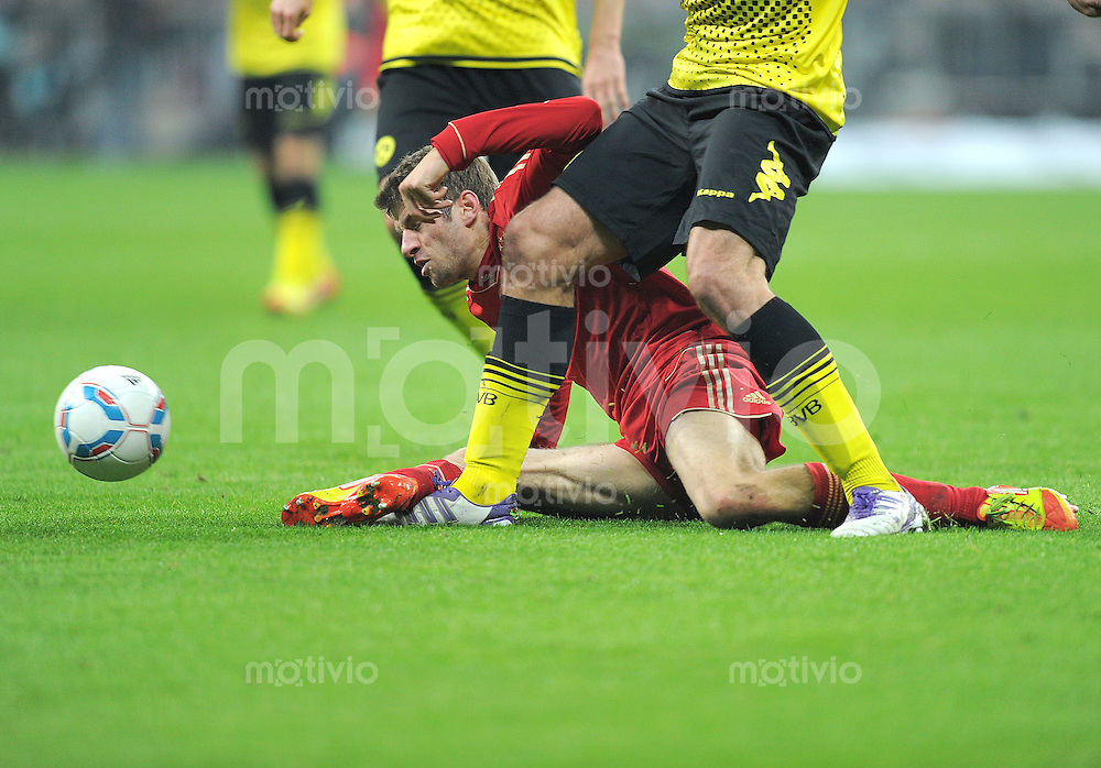 FUSSBALL   1. BUNDESLIGA  SAISON 2011/2012   13. Spieltag FC Bayern Muenchen - Borussia Dortmund        19.11.2011 Thomas Mueller (FC Bayern Muenchen)