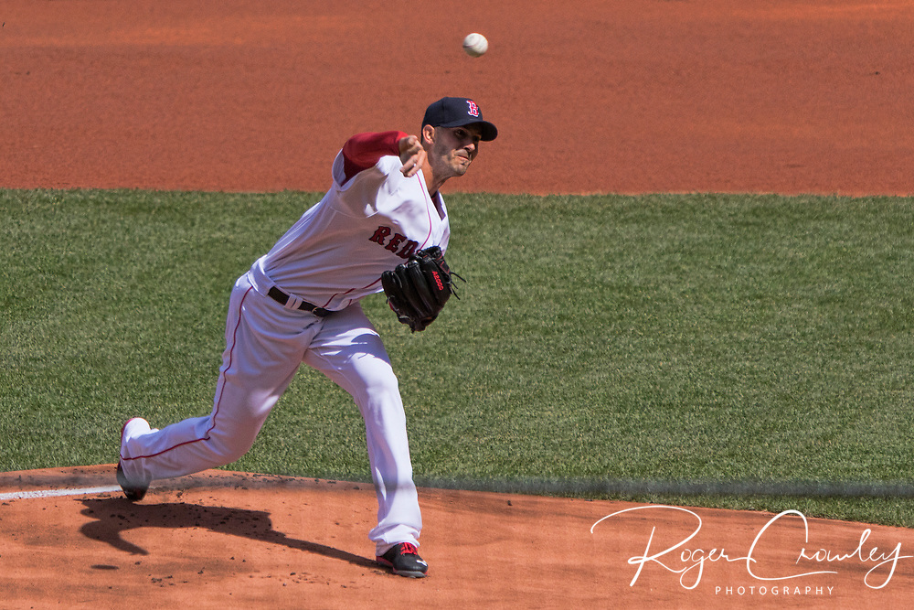 BOSTON MA - Red Sox defeat the Pittsburgh Pirates 5-3 in the season opener at Fenway Park on April 3, 2017.