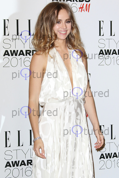 Suki Waterhouse, ELLE Style Awards 2016, Millbank London UK, 23 February 2016, Photo by Richard Goldschmidt
