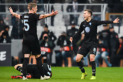 December 13, 2018 - Istanbul, Turkey - 181213 Arn—r Ingvi Traustason and SÅ¡ren Rieks of MalmÅ¡ FF reacts during the Europa league match between Besiktas and MalmÅ¡ FF on December 13, 2018 in Istanbul..Photo: Petter Arvidson / BILDBYRN / kod PA / 92175 (Credit Image: © Petter Arvidson/Bildbyran via ZUMA Press)