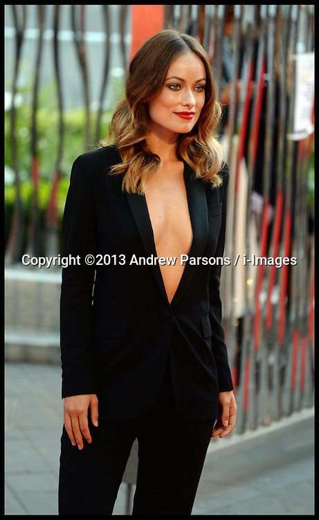Rush - UK film premiere. <br /> Olivia Wild during the 'Rush' - UK film premiere, Odeon, London, United Kingdom. Monday, 2nd September 2013. Picture by Andrew Parsons / i-Images