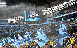 A general view of flag bearers at the Etihad Stadium