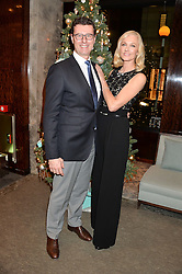 BARRATT WEST MD of Tiffany UK and JOELY RICHARDSON at a VIP evening hosted by Joely Richardson at the Tiffany & Co Christmas Shop, Tiffany & Co Old Bond Street, London on 24th November 2013.