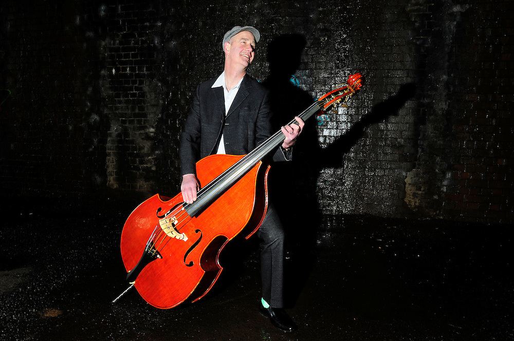 Cosmic Ray and the Constellations<br /> Photo shoot<br /> Manchester<br /> <br /> Dominic Stanger - Double bass, and backing vocals.