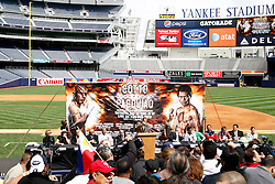 September 10, 2009; Bronx, NY; USA; Atmosphere shot of the press conference at Yankee Stadium for the November 14, 2009 fight between Manny Pacquiao and Miguel Cotto.  The two will meet at the MGM Grand Garden Arena in Las Vegas, NV.