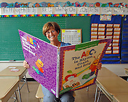 Donna Haran, 2008 Thomas Green Award recipient, in her classroom at the Tatnuck Magnet School.