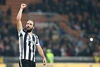 28.10.2017 - Milano - Serie A 2017/18 - 11a giornata  -  Milan-Juventus nella  foto: Gonzalo Higuain esulta a fine partita