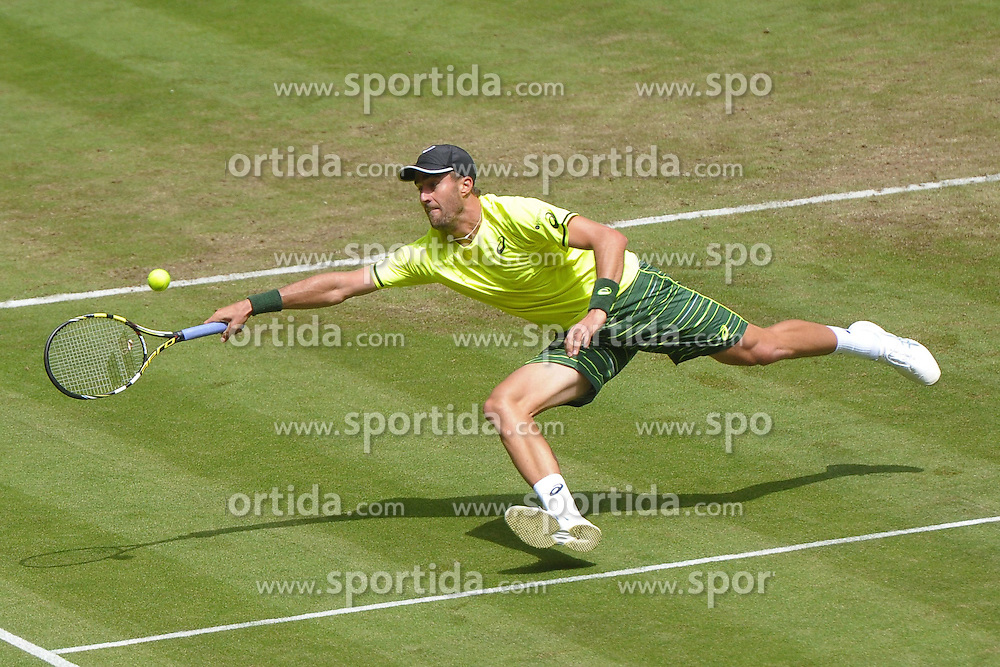 17.06.2015, Gerry Weber Stadion, Halle Westfalen, GER, ATP Tour, Gerry Weber Open 2015, Tag 3, im Bild Steve Johnson (USA) // during day tree of 2015 Gerry Weber Open of ATP world Tour at the Gerry Weber Stadion in Halle Westfalen, Germany on 2015/06/17. EXPA Pictures &copy; 2015, PhotoCredit: EXPA/ Eibner-Pressefoto/ Franz<br /> <br /> *****ATTENTION - OUT of GER*****
