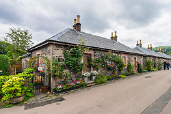 Traditional old stone built cottages in village of Luss at Loch Lomond, Argyll and Bute, Scotland