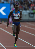 Athletics - 2017 IAAF London World Athletics Championships - Day Three, Evening Session<br /> <br /> Women's 100m Semi Final<br /> <br /> Tori Bowie (United States) at the London Stadium<br /> <br /> COLORSPORT/DANIEL BEARHAM