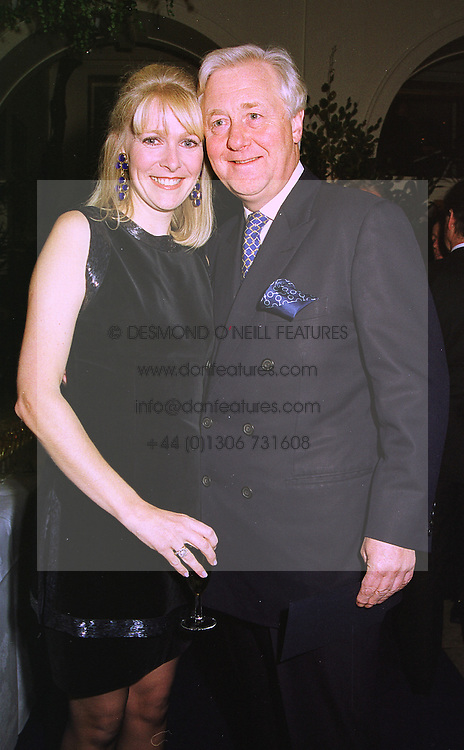 MISS KIRSTEN HUGHES and SIR BENJAMIN SLADE Bt. at a party in London on 4th November 1998.MLO 6