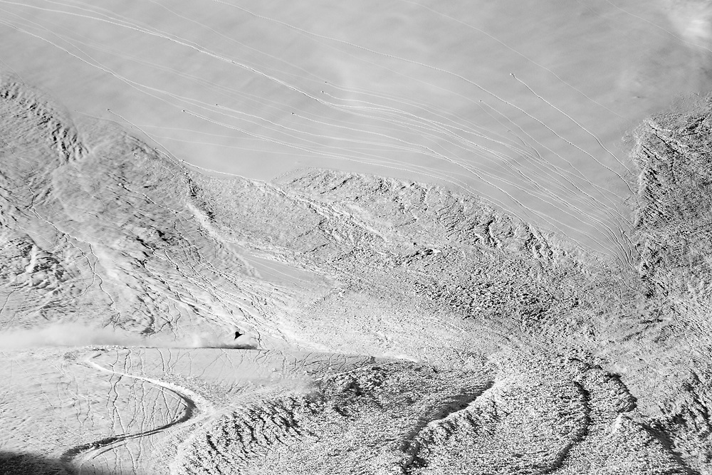 Tom Brand navigates his way through a monster slough in the Alaskan Chugach