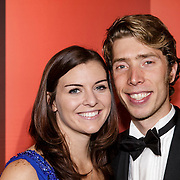 NLD/Amsterdam/20141216- NOC/NSF Sportgala 2014, Jorrit Bergsma en partner Heather Richardson