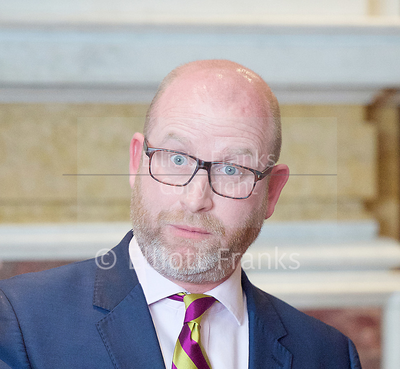 Paul Nuttall MEP <br /> UKIP Leader makes a Brexit speech #SixKeysTests at the Marriott Hotel, London, Great Britain <br /> 27th March 2017 <br /> <br /> Ahead of the Prime Minister triggering Article 50 next week, UKIP Leader Paul Nuttall sets out six key tests by which the country can judge Theresa May's Brexit negotiations in a keynote speech on this coming Monday morning.<br /> <br /> Photograph by Elliott Franks <br /> Image licensed to Elliott Franks Photography Services