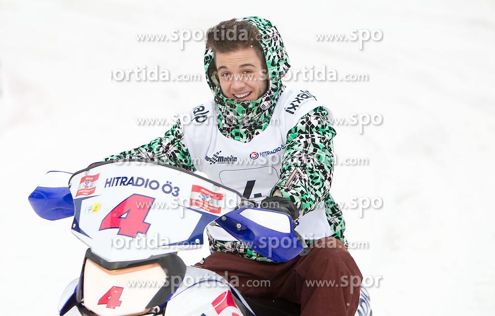 07.12.2014, Saalbach Hinterglemm, AUT, Snow Mobile, im Bild Luca Hänni // during the Snow Mobile Event at Saalbach Hinterglemm, Austria on 2014/12/07. EXPA Pictures © 2014, PhotoCredit: EXPA/ JFK