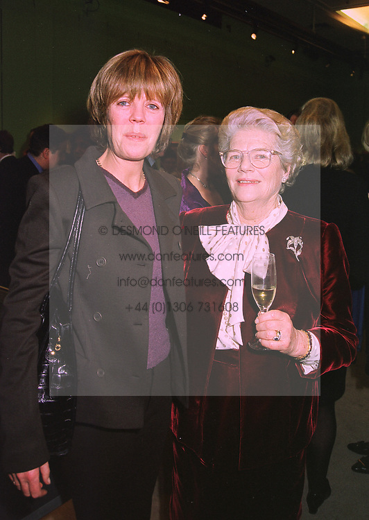 Left to right, the HON.EMMA SOAMES and her mother LADY SOAMES, at an exhibition in London on 8th January 1998.MEL 41