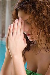 Jul. 26, 2012 - Woman praying (Credit Image: © Image Source/ZUMAPRESS.com)