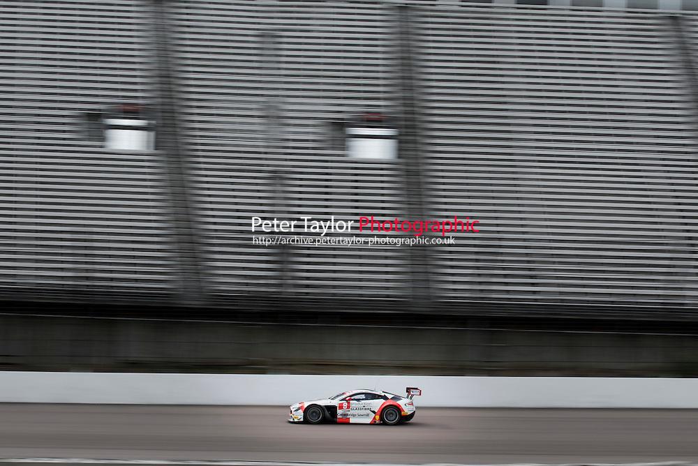Phil Dryburgh (GBR) / Ross Wylie (GBR)  #8 Motorbase Performance  Aston Martin V12 Vantage GT3  Aston Martin 6.0L V12 British GT Championship at Rockingham, Corby, Northamptonshire, United Kingdom. April 30 2016. World Copyright Peter Taylor/PSP.