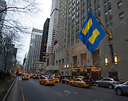HRC Flag flown during the Human Rights Campaign New York City Gala 2013 on February 2, 2013 at the Waldorf Astoria Hotel.