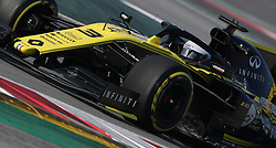 Renault's Daniel Ricciardo during day four of pre-season testing at the Circuit de Barcelona-Catalunya.