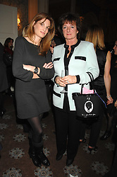 Left to right, JEMIMA KHAN and the HON.ROSA MONCKTON at a party to celebrate the publication of Top Tips For Girls by Kate Reardon held at Claridge's, Brook Street, London on 28th January 2008.<br />