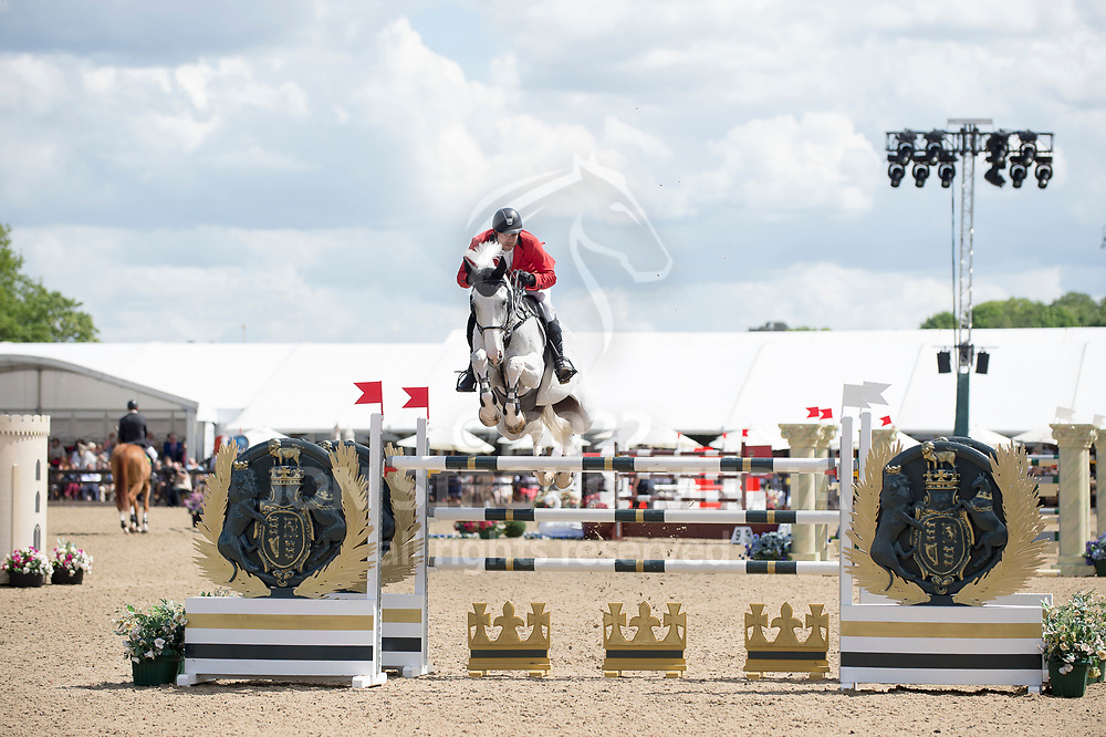 Ibrahim  Hani Bisharat  (JOR) & Bowie Z - Rolex Grand Prix - CSI5* Jumping - Royal Windsor Horse Show - Home Park, Windsor, United Kingdom - 14 May 2017