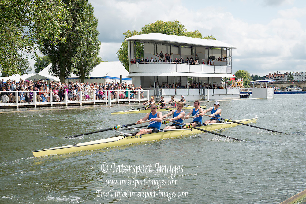 Henley Royal Regatta, Henley on Thames, Oxfordshire, 3-7 July 2013.  Thursday  15:17:13   04/07/2013  [Mandatory Credit/Intersport Images]<br /> <br /> Rowing, Henley Reach, Henley Royal Regatta.<br /> <br /> The Visitors' Challenge Cup<br /> Thames Rowing Club v Quintin Boat Club