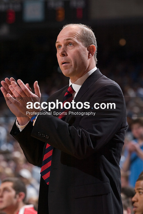 07 January 2006:  North Carolina State head coach Herb Sendek in a North Carolina State Wolfpack 69-82 loss to the North Carolina Tarheels, in the Dean Smith Center in Chapel Hill, NC.