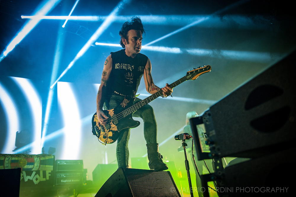 Simon Gallup of the Cure on the last date of their world tour 2016, after a year around the world the band closed in style at the Wembley Arena in London on 3 December 2016