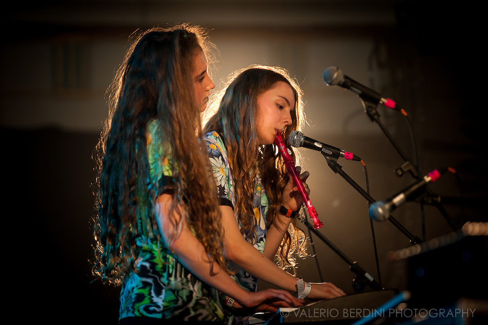 Let's Eat Grandma live at the church of St. John at Hackney for the Visions Festival 2016 in London.