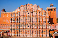 Inde, Rajasthan, Jaipur la ville rose, le palais des vents (Hawa Mahal) // India, rajasthan, Jaipur the Pink City, the Wind Palace (Hawa Mahal)