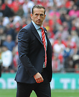 Football - 2019 Buildbase FA Trophy Final - AFC Fylde vs. Leyton Orient<br /> <br /> Leyton Orient Manager Justin Edinburgh, at Wembley Stadium.<br /> <br /> COLORSPORT/ANDREW COWIE