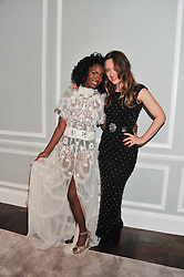 Left to right, SHINGAI SHONIWA and ALICE TEMPERLEY at a party to celebrate thelaunch of Alice Temperley's flagship store Temperley, Bruton Street, London on 6th December 2012.