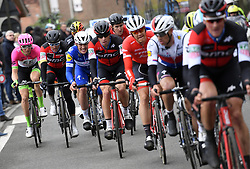 March 23, 2018 - Harelbeke, BELGIUM - Belgian Sep Vanmarcke of EF Education First - Drapac Cannondale, Belgian Greg Van Avermaet of BMC Racing Team and Belgian Jasper Stuyven of Trek-Segafredo pictured in action during the 61st edition of the 'E3 Prijs Vlaanderen Harelbeke' cycling race, 206,5 km from and to Harelbeke, Friday 23 March 2018. BELGA PHOTO POOL VINCENT KALUT (Credit Image: © Pool Vincent Kalut/Belga via ZUMA Press)