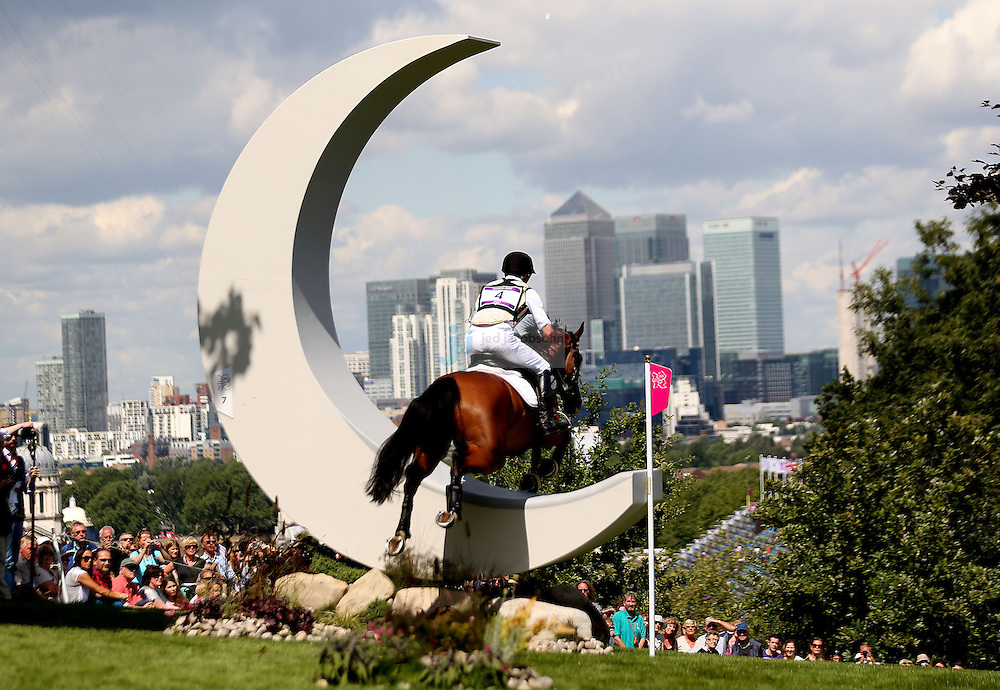 Peter Thomsen of Germany jumps during the team eventing equestrian event during day 3 of the London Olympic Games London, 30 Jul 2012..(Jed Jacobsohn/for The New York Times)....