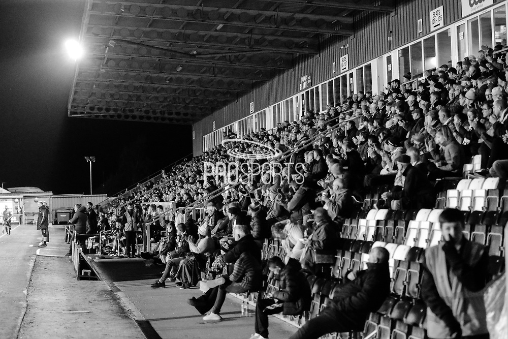 The East Stand under the lights during the EFL Sky Bet League 2 match between Forest Green Rovers and Tranmere Rovers at the New Lawn, Forest Green, United Kingdom on 23 October 2018.
