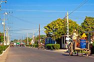 Street in Sabalao, Pinar del Rio, Cuba.