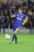 Barry Fuller (Captain) of AFC Wimbledon during Sky Bet League 2 match between AFC Wimbledon and Cambridge United at the Cherry Red Records Stadium, Kingston, England on 18 August 2015. Photo by Stuart Butcher.