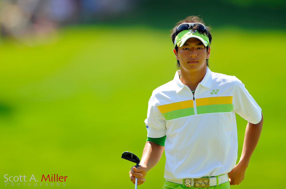 Aug 14, 2009; Chaska, MN, USA; Ryuji Ishikawa (JPN) on the 7th green during the second round of the 2009 PGA Championship at Hazeltine National Golf Club.  ©2009 Scott A. Miller