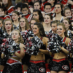 Dec 3, 2011; Atlanta, GA, USA; The Georgia Bulldogs dance team performs in the stands during the first half of the 2011 SEC championship game against the LSU Tigers at the Georgia Dome.  Mandatory Credit: Derick E. Hingle-US PRESSWIRE