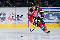 KELOWNA, CANADA - DECEMBER 8: Damon Severson #7 of the Kelowna Rockets skates on the ice with the puck against the Prince George Cougars at the Kelowna Rockets on December 8, 2012 at Prospera Place in Kelowna, British Columbia, Canada (Photo by Marissa Baecker/Shoot the Breeze) *** Local Caption ***