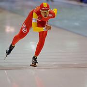 NLD/Heerenveen/20051204 - World Cup schaatsen 2005, Jia Ji