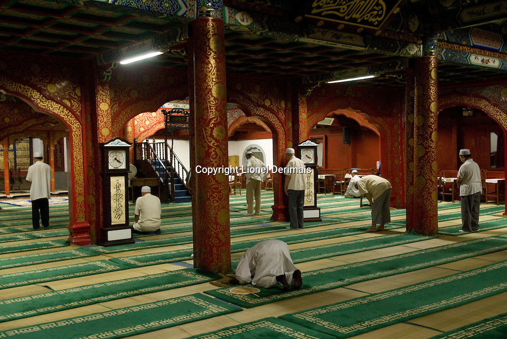 First prayer at Beijing Niujie mosque at 4am. August 9th 2007