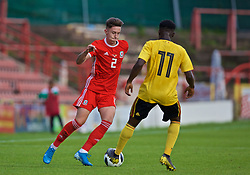 WREXHAM, WALES - Friday, September 6, 2019: Wales' Cameron Coxe in action during the UEFA Under-21 Championship Italy 2019 Qualifying Group 9 match between Wales and Belgium at the Racecourse Ground. (Pic by Laura Malkin/Propaganda)