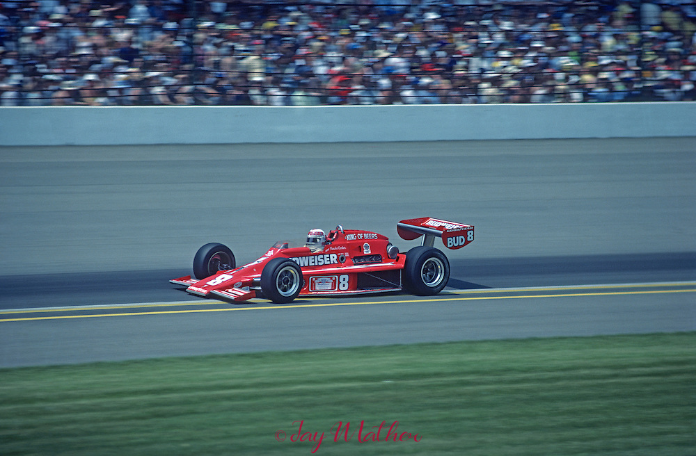 Pancho Carter # 8 started 21st in the 1978 Indy 500.  He finished 24th.