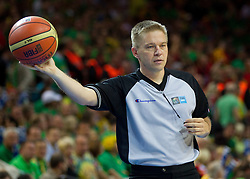 Referee Damir Javor of Slovenia during basketball game between National basketball teams of F.Y.R. of Macedonia and Lithuania at Quarterfinals of FIBA Europe Eurobasket Lithuania 2011, on September 14, 2011, in Arena Zalgirio, Kaunas, Lithuania. Macedonia defeated Lithuania 67-65. (Photo by Vid Ponikvar / Sportida)